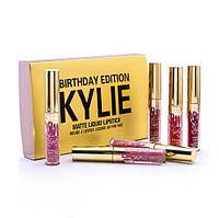 Набор жидких матовых помад Kylie Birthday Edition matte liquid lipstick (6 цветов)