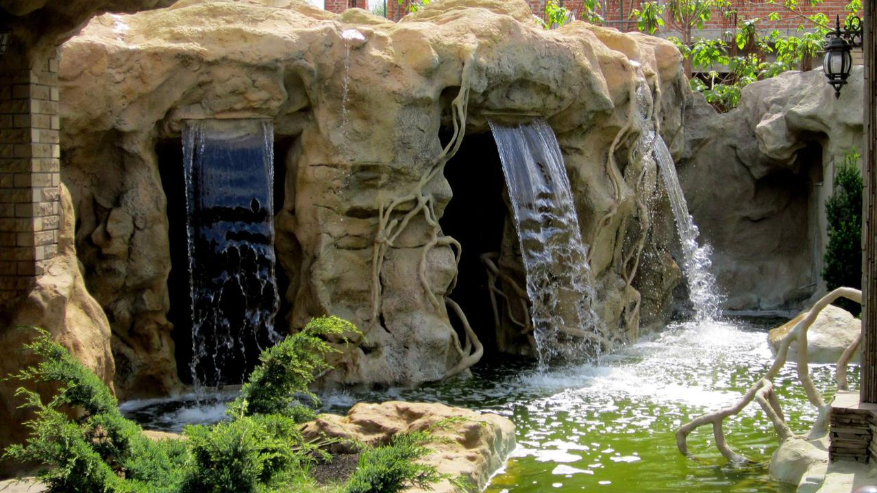 ЛАНДШАФТНЫЙ Дизайн.ПОСТРОИТЬ Искусственный Водопад, БАССЕЙН, ПРУД и ОБЛИЦЕВАТЬ Вокруг КАМНЕМ