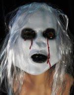 Маска Зомби белая страшнаяс волосами