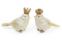 Декоративная статуэтка Птичка в короне 7.5см, 2 вида, цвет - золото BonaDi 218-433