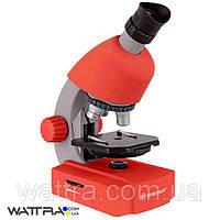 Микроскоп Bresser Junior 40x-640x Red с адаптером для смартфона