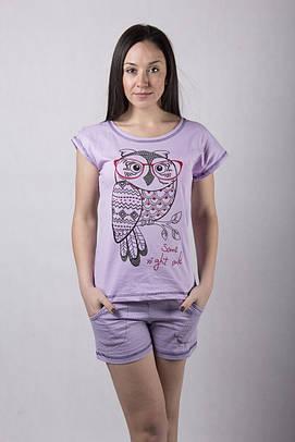 """Пижама футболка с шортами """"Sova"""" р. 42-54"""