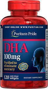 Puritan's PrideАктивное долголетиеDHA 100 mg120 softgels