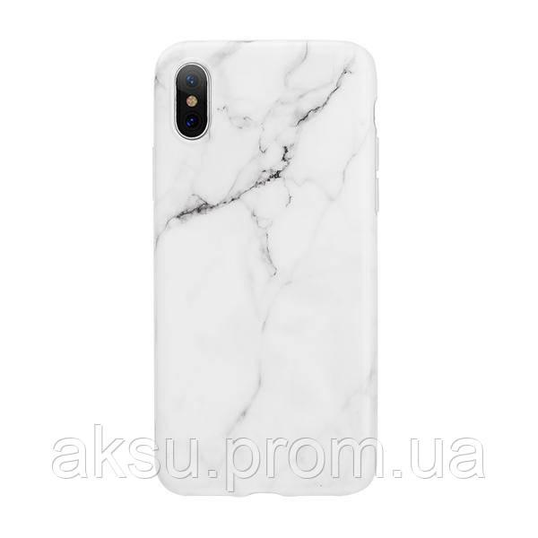 Чехол силіконовий Мармур iPhone X