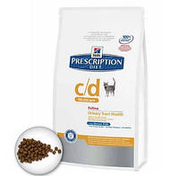 Hills  Prescription Diet Feline c/d (кошки) с курицей 0,4 кг