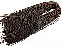 Шнурки для обуви вощеные(200см) круглые, цвет коричневый, Ø 5мм (36 пар в упаковке)