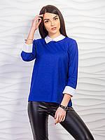 Женская кофта с рубашечным воротником , фото 1