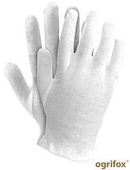 Перчатки рабочие белые Ogrifox Великобритания OX-UNDER W