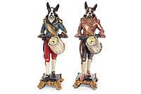 Декоративная фигура с часами Собака-барабанщик 40см, 2 вида BonaDi 419-111
