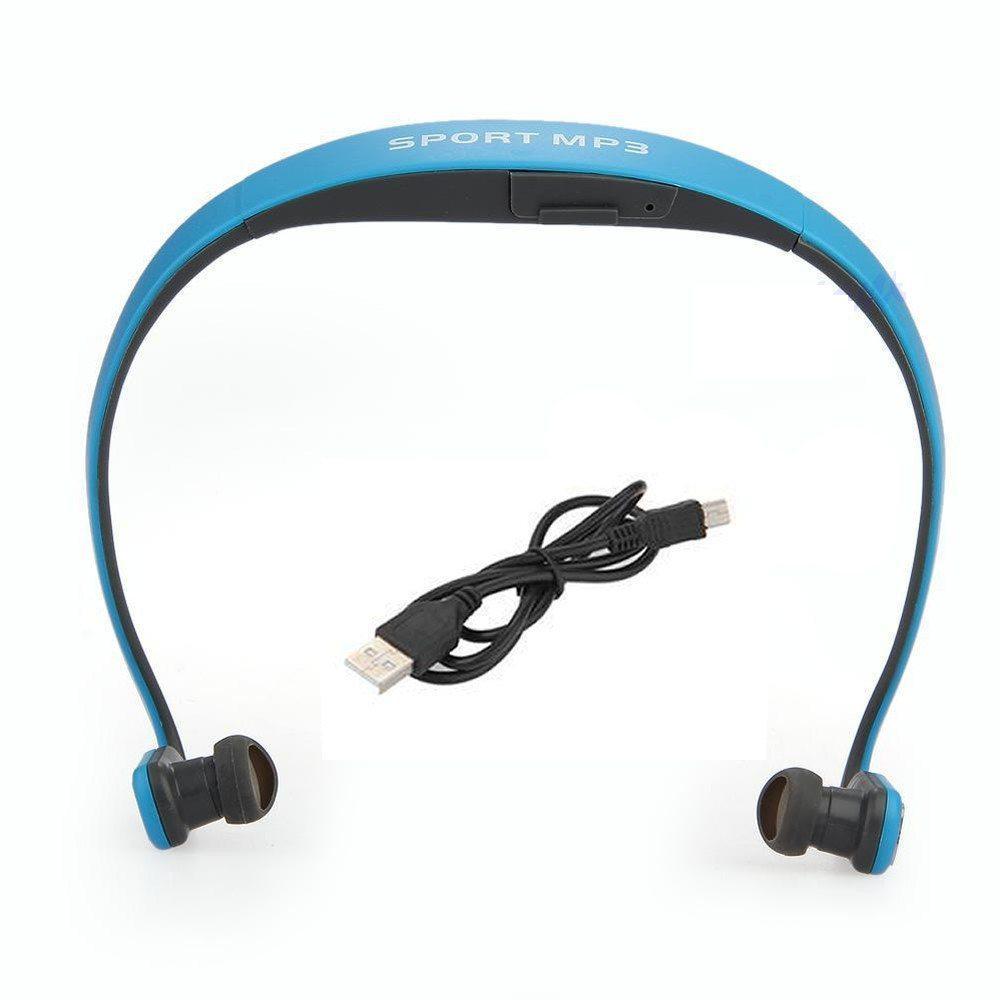Навушники Sport MP3 Run плеєр + Fm blue (синій)