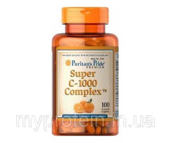 Puritan's Pride Витамин Ц Super C-1000 Complex 100 caplets