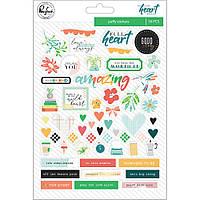 Наклейки паф - Let Your Heart Decide - Pinkfresh Studio - W Foil