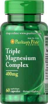 Puritan's Pride Triple Magnesium Complex 400 mg 60 caps