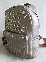 Рюкзак реплика Шанель городской  цвет бронза большой размер