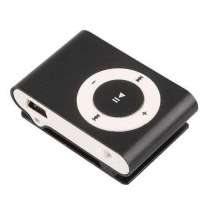 MP3 плеєр алюмінієвий Кліпса + Навушники +перехідник USB black (чорний)