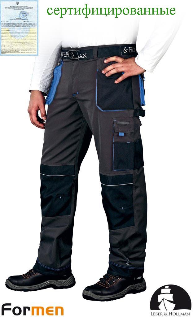 Штаны рабочие серые мужские FORMEN Leber&Hollman Польша (униформа) LH-FMN-T SBN