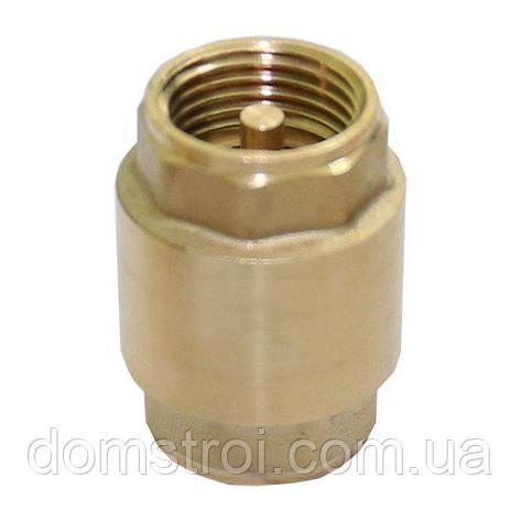 """Обратный клапан латунный шток 3/4"""", фото 2"""