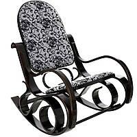 Кресло качалка гнутое дерево узор ХХL