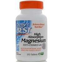 Doctor's Best, Магний с высокой усваиваемостью, 120 таблеток