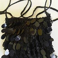 Сумочка детская черная через плечо «Шолуха» 15х15 см