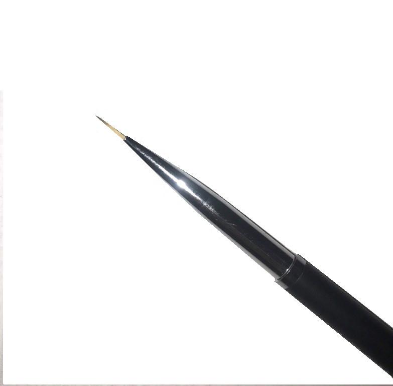 Кисть для ногтей YRE тонкая NKM-00-черная ручка