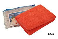 Полотенца для лица POL-00, красное, из микрофибры, Полотенца