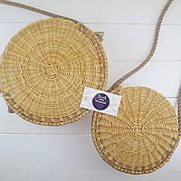 Сумка плетеная круглая