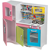 Дерев'яна кухня для дітей Ecotoys TK038 + набір посуду, фото 2