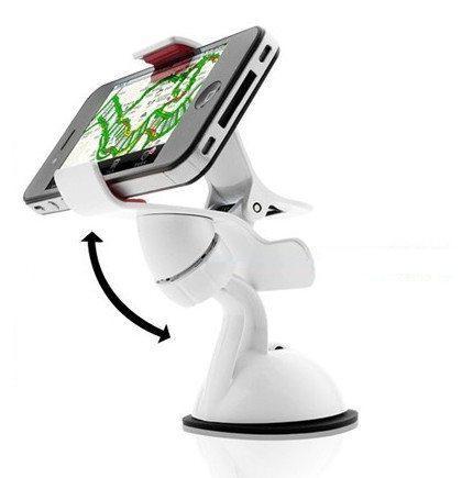 Держатель для смартфона телефона навигатора в авто white (белый)