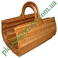 Набор плетеных корзин из лозы для камина из 2шт. Арт.200-2