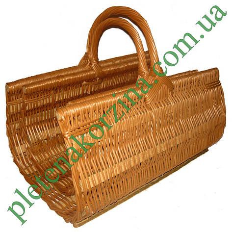 Набор плетеных корзин из лозы для камина из 2шт. Арт.200-2, фото 2