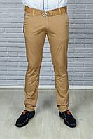 Мужские стильные Брюки джинсы зауженный с ремнём  цвет хаки.GUCCI
