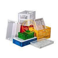Пластиковые ящики и тележки
