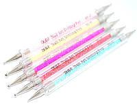 Дотс для росписи ногтей YRE ND-07, прозрачный, в наборе по 5 штшт, Дотс для рисования, дотс для китайской росписи, дотс для дизайна ногтей