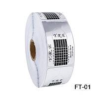 Форма для наращивания ногтей YRE FT-01 стилет фиолетовая, форма для ногтей, форма-наклейка для наращивания, наращивание ногтей с помощью форм