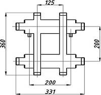 Коллектор котельной СК-172.125 с выходом вверх и вниз