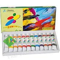 Краски акриловые для росписи ногтей Fairy 812 набор 12 цв, 12 мл, акриловые краски для росписи ногтей, краски для дизайна ногтей, краска акриловая