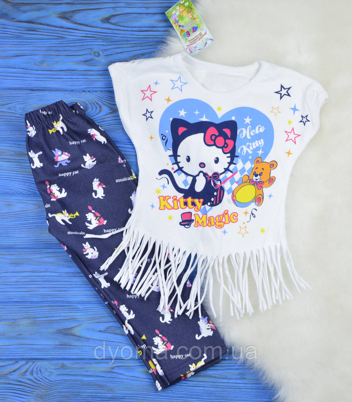 """Детский летний костюм """"Hello Kitty!"""" для девочек"""