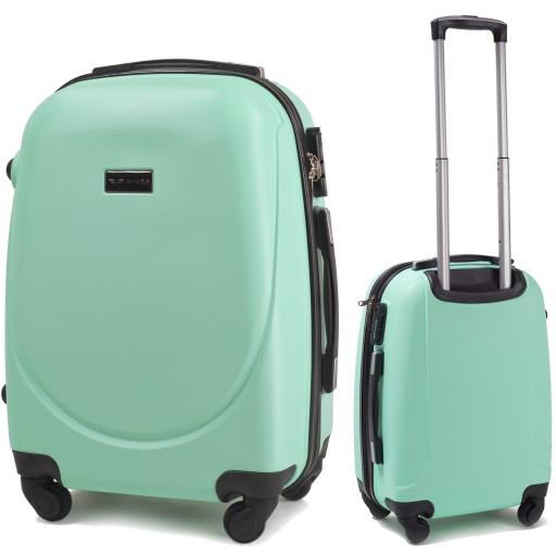 7664cbd347f2 Пластиковый чемодан S (маленький) на четырёх колёса Wings цвет light green.