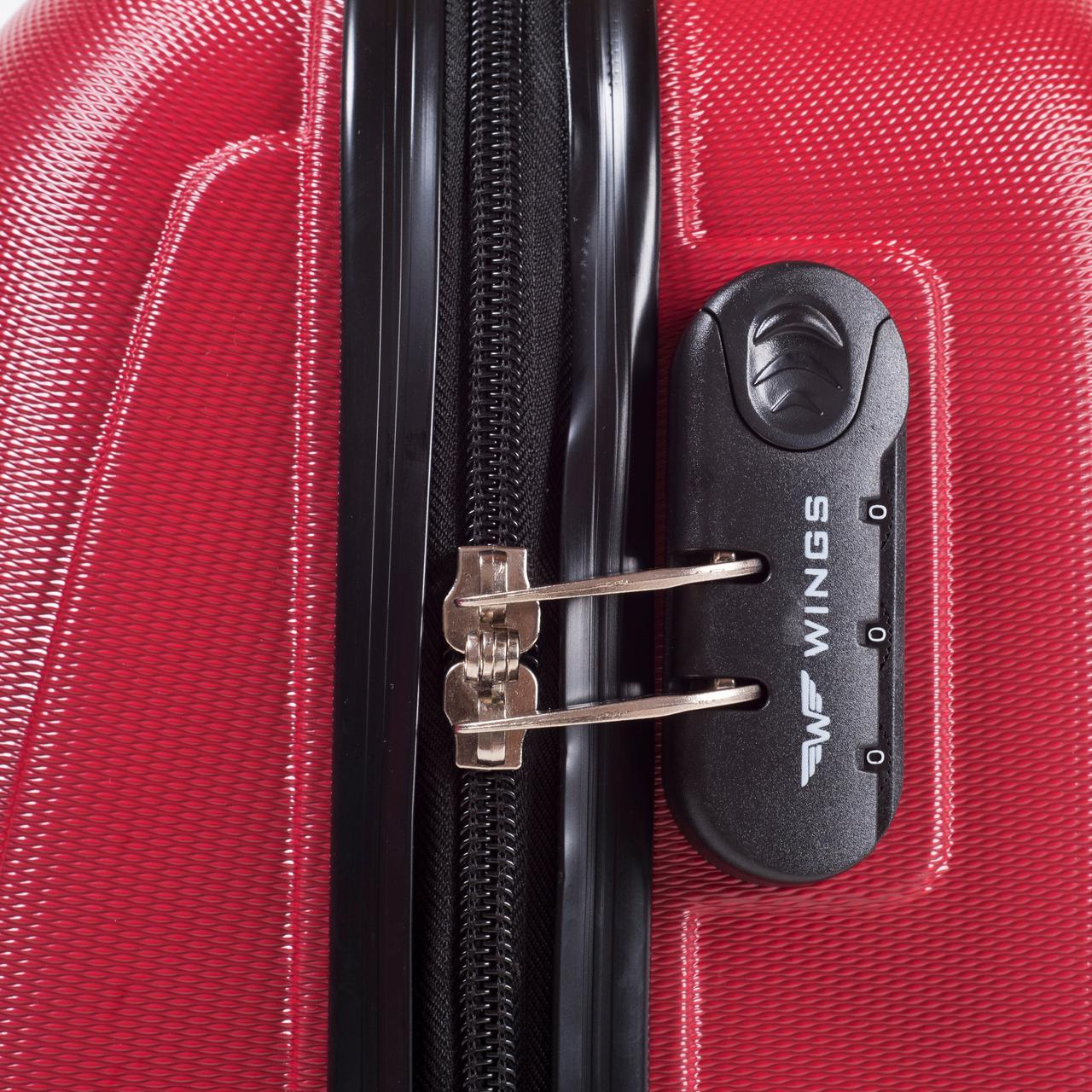 962f53dcb4b6 ... Пластиковый чемодан S (маленький) на четырёх колёса Wings цвет blue,  фото 3