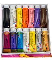 Краски акриловые для росписи ногтей YRE YCR-05 набор 14 цв по 22 мл (3D), акриловые краски для росписи ногтей, краски для дизайна ногтей, фото 1
