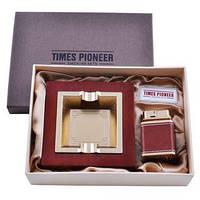 Подарочный набор Times Pioneer пепельница+зажигалка №3623 9232 СО