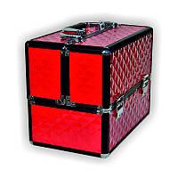 Чемодан для инструментов раздвижной TJ-255, малиновый, металлический, Металлический чемодан