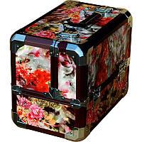 Чемодан для инструментов раздвижной 5258 (1), розовый с голубым, металлический, Металлический чемодан