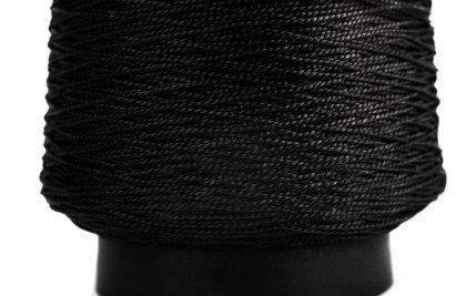 Нитка обувная капроновая 187 текс 450 грамм черная - нить крученая сапожная , фото 2