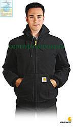 Стьобана Куртка робоча з теплим капюшоном чорна Carhartt® (одяг робочий) CA-EJ130 BLK