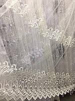 Тюль из фатина с вышивкой, отрезок 2,5м., код-263