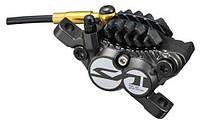 Калипер гидравлического дискового тормоза Shimano SAINT BR-M820, колодки с радиатором, без адаптера и ротора
