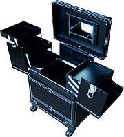 Чемодан раскладной на колесах СH-3743(1), чёрный, Чемодан