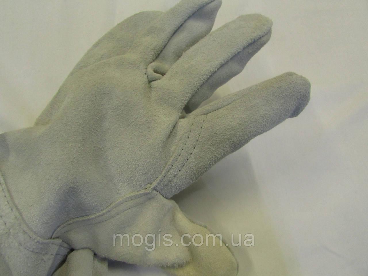 Перчатки спилковые с крагами 7,5 см
